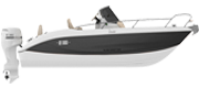KEY LARGO 20 - OUTBOARD LINE BLACK (gelcoat)