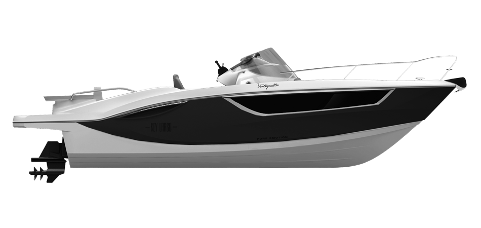 KEY LARGO 24 ENTROFUORIBORDO - INBOARD LINE BLACK METALLIZED (paint)