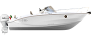 KEY LARGO 24 FUORIBORDO - OUTBOARD LINE WHITE (gelcoat)