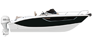 KEY LARGO 27 FUORIBORDO - OUTBOARD LINE BLACK ( gelcoat)