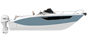 KEY LARGO 27 FUORIBORDO - OUTBOARD LINE AIR BLUE METALLIZED (paint)