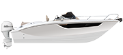 KEY LARGO 27 FUORIBORDO - OUTBOARD LINE WHITE (gelcoat)