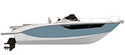 KEY LARGO 27 ENTROFUORIBORDO - INBOARD LINE AIR BLUE METALLIZED (paint)