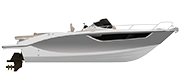 KEY LARGO 27 STERNDRIVE - INBOARD LINE SILVER METALLIZED (paint)