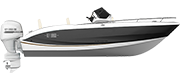 KEY LARGO ONE - OUTBOARD LINE BLACK (gelcoat)