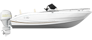 KEY LARGO ONE - OUTBOARD LINE WHITE (gelcoat)